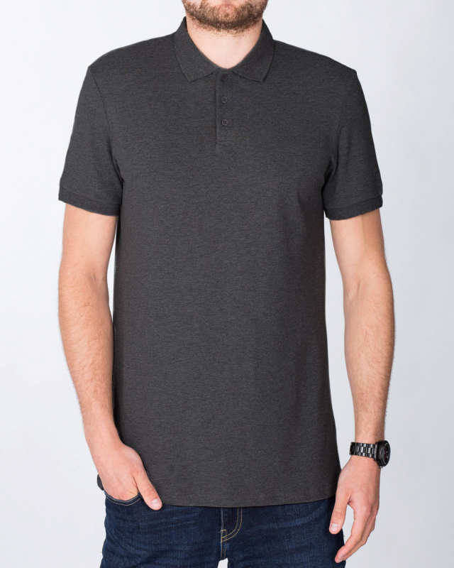 2t Slim Fit Tall Polo Shirt (charcoal)
