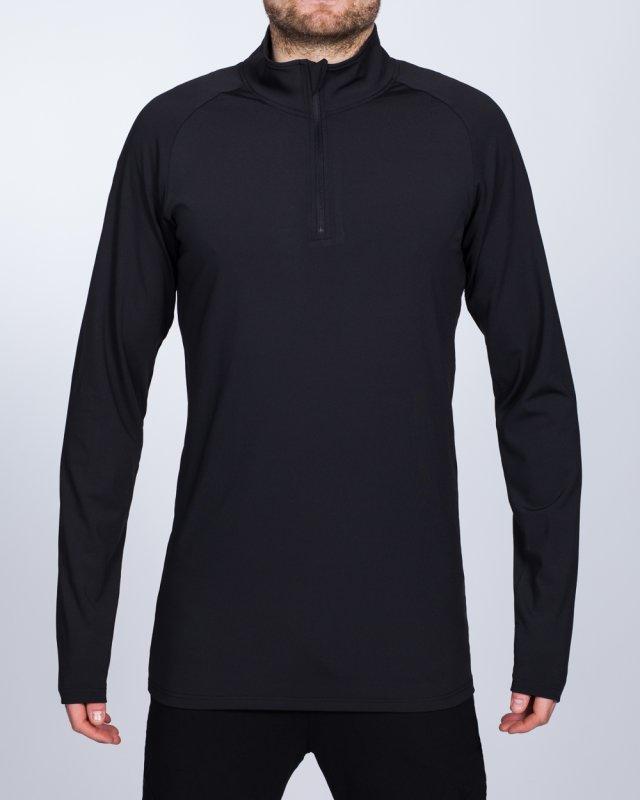 2t Long Sleeve Quarter-Zip Training Top (black)