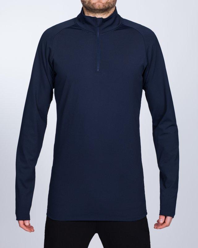 2t Long Sleeve Quarter-Zip Training Top (navy)
