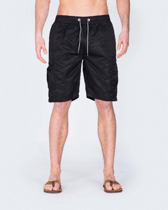 2t Tall Cargo Swim Shorts (black)
