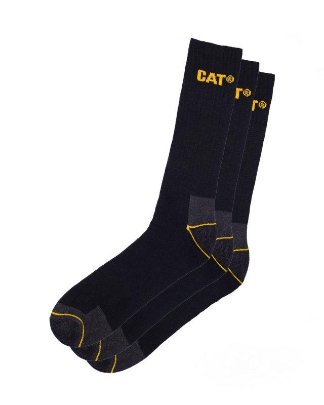 Cat Work Socks 3 Pairs (black)