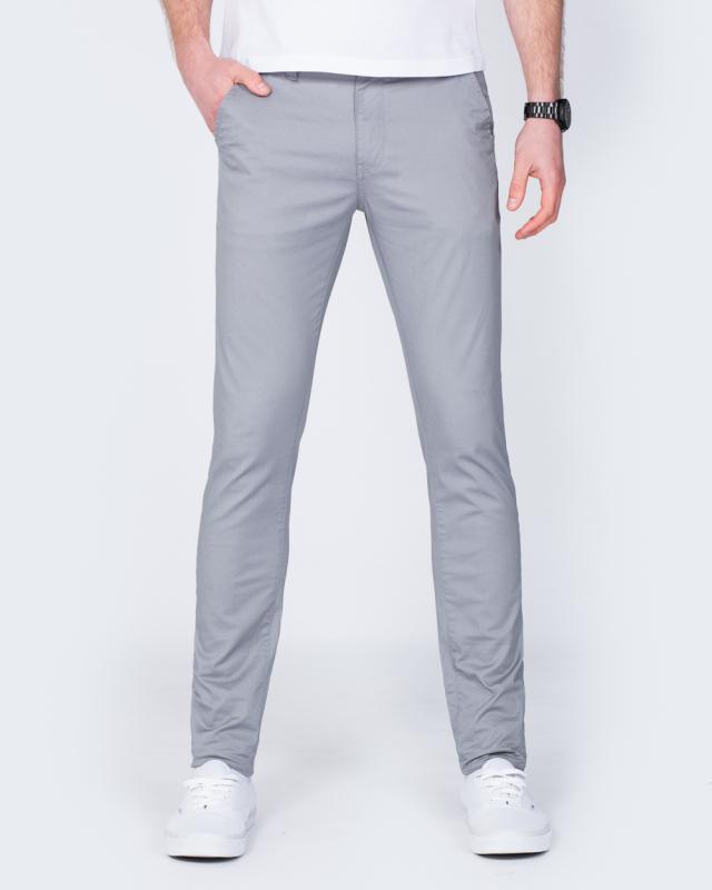 2t Skinny Fit Chinos (grey)