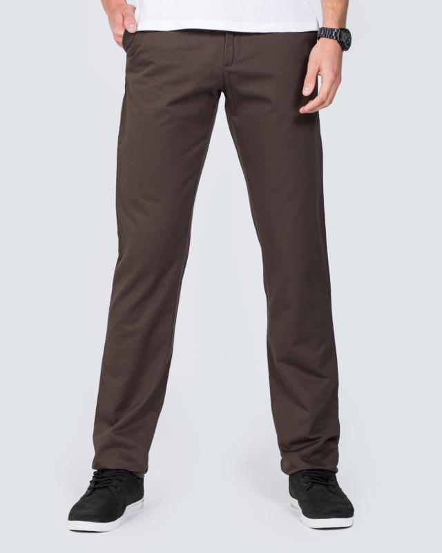 Ed Baxter Regular Fit Tall Chinos (grey)