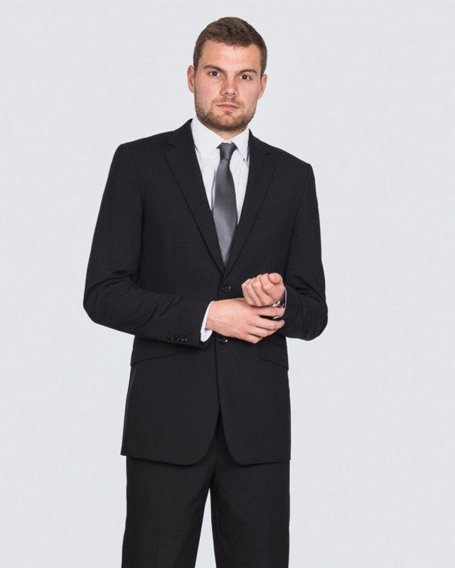 Skopes Regular Fit Wool Tall Suit (black)