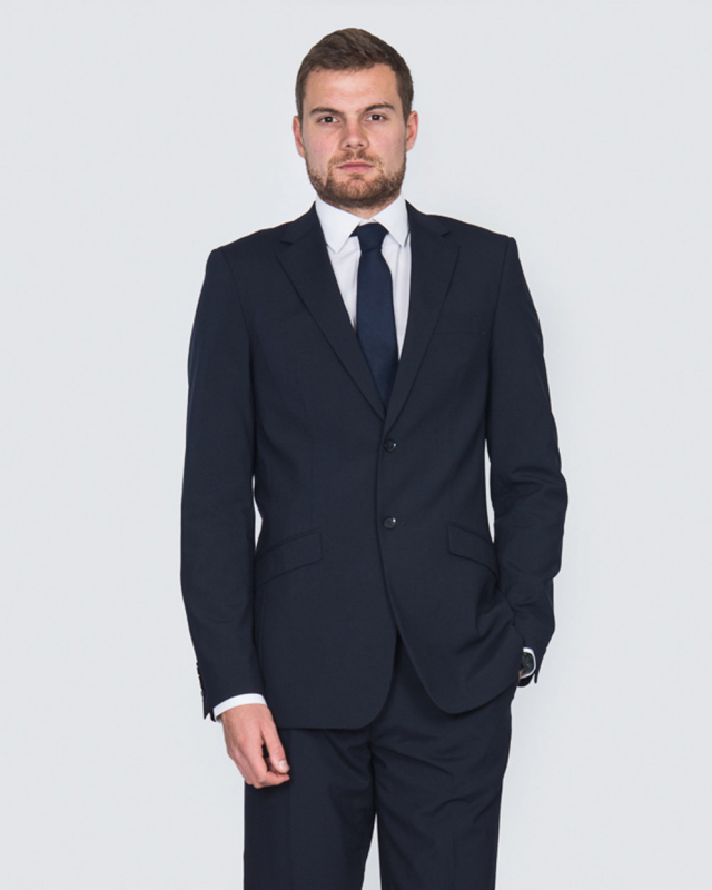 Skopes Regular Fit Wool Tall Suit (navy)