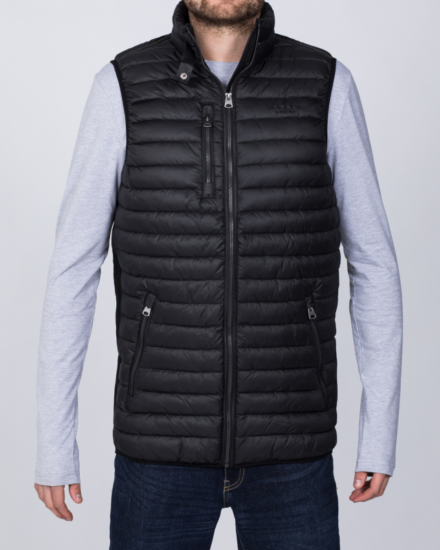 North 56 Tall Quilted Gilet (black)