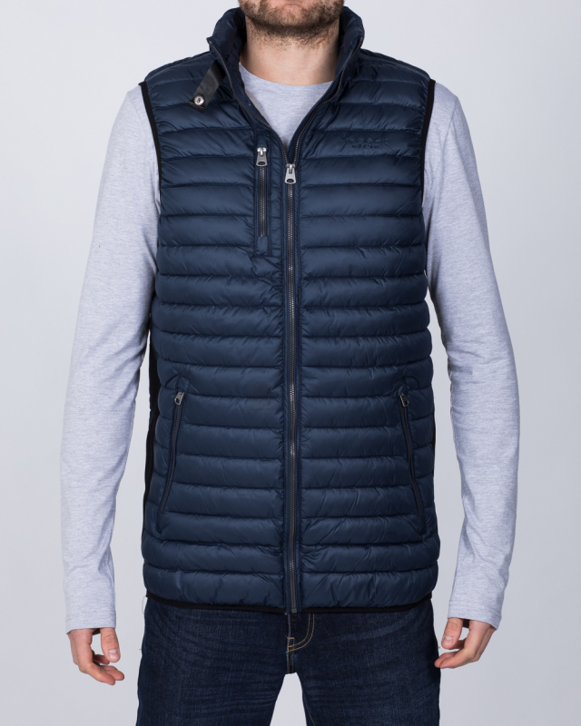 North 56 Tall Quilted Gilet (navy)