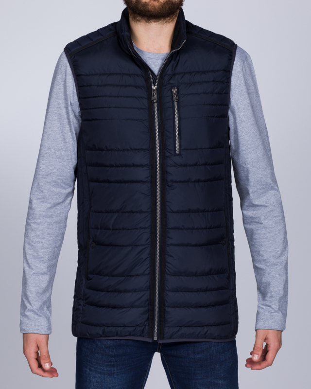 Cabano Tall Quilted Gilet (navy)