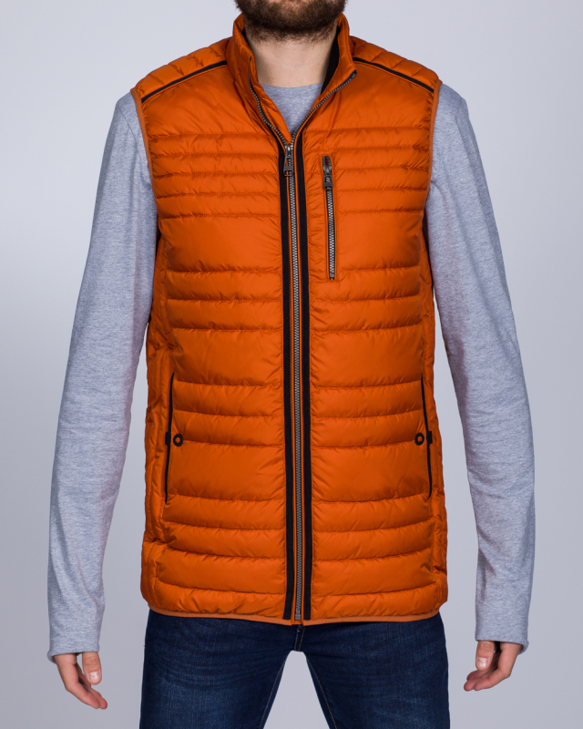 Cabano Tall Quilted Gilet (orange)