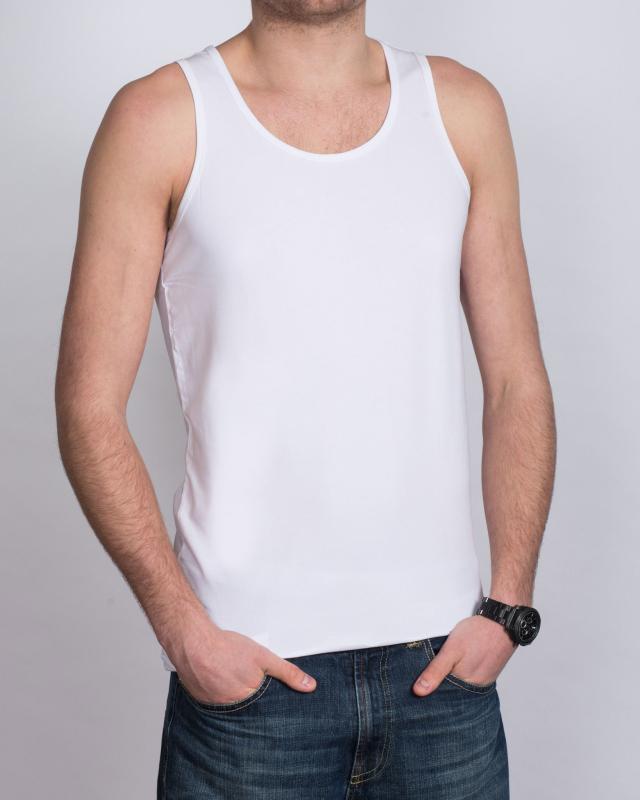 Girav Sleeveless Extra Tall Vest (white) Twin Pack