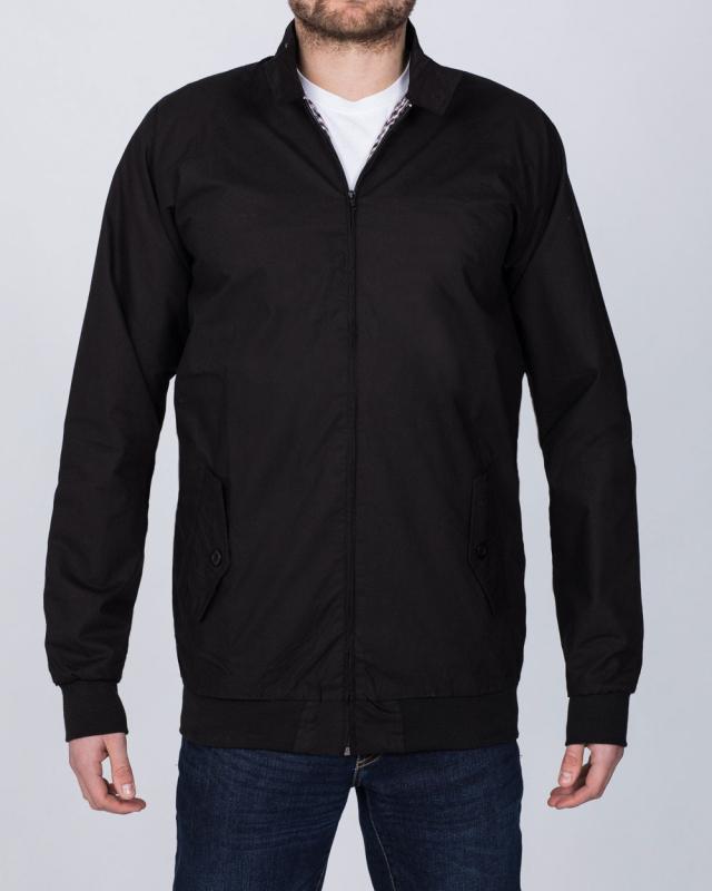 2t Slim Fit Tall Harrington Jacket (black)