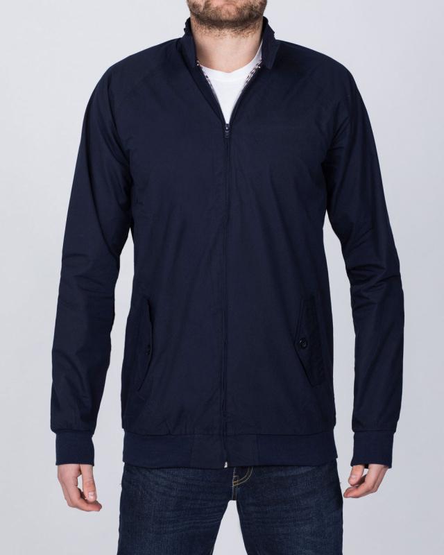 2t Slim Fit Tall Harrington Jacket (navy)