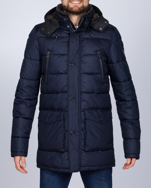 Cabano Tall Quilted Parka Jacket (navy)