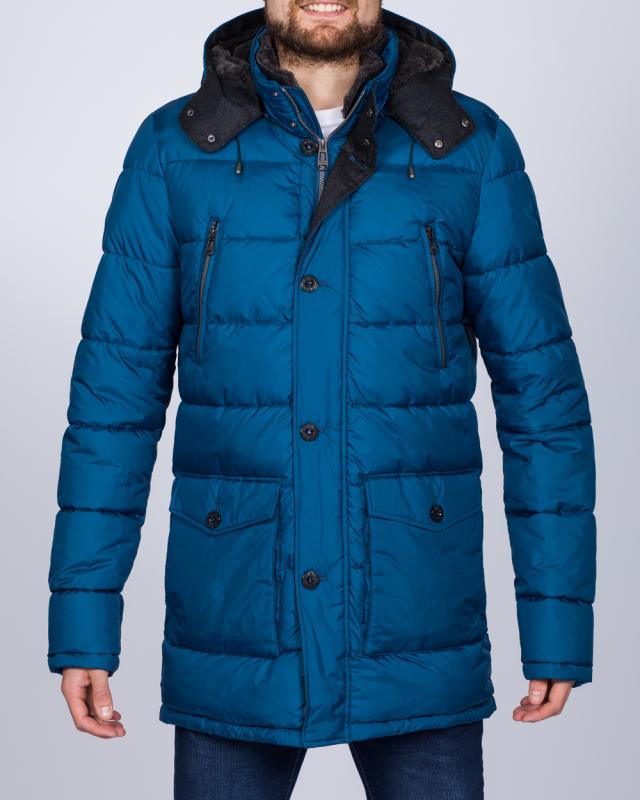 Cabano Tall Quilted Parka Jacket (royal blue)