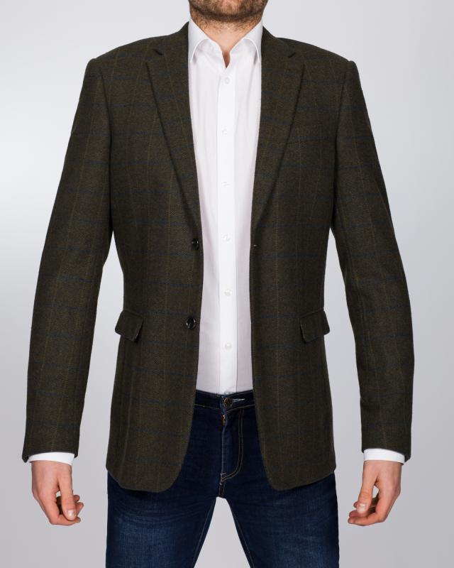 Skopes Slim Fit Tall Hornby Blazer (green check)