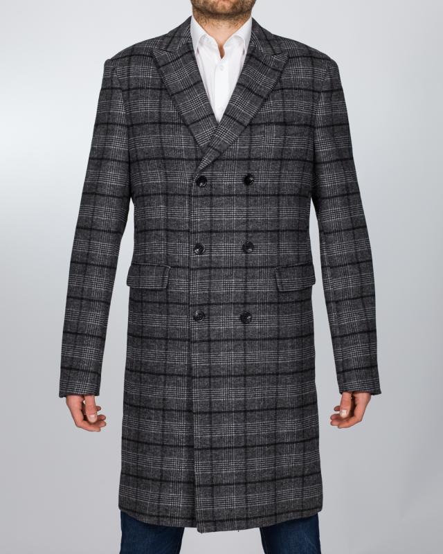 Skopes Porter Overcoat (charcoal check)