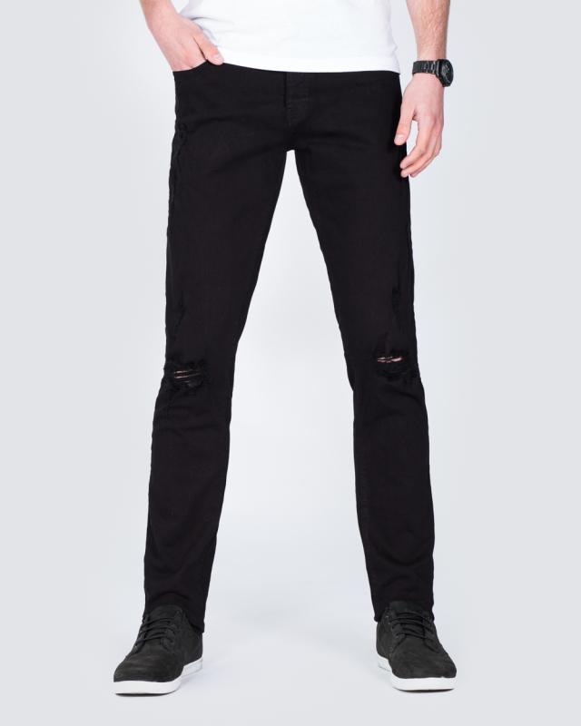 2t Slim Fit Ripped Jeans (black)