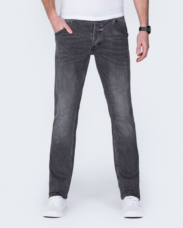 Mustang Michigan Tapered Regular Fit Tall Jeans (dark grey)