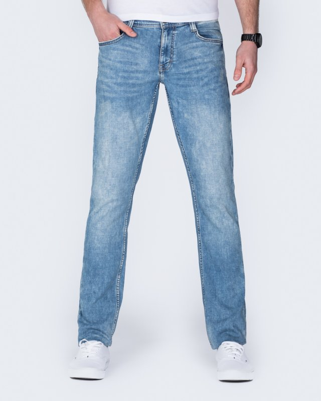 Mustang Oregon Tapered Slim Fit Tall Jeans (light wash)