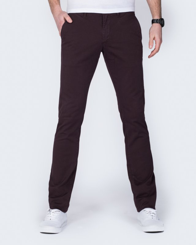 Cub Frog Tapered Fit Tall Chinos (bordeaux)