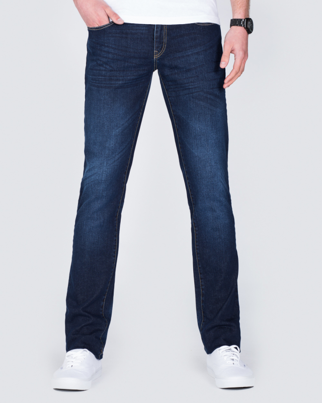 Mens Chisel Jeans Tall Extra Long Blue Stretch Denim Straight Leg CJ-2909T