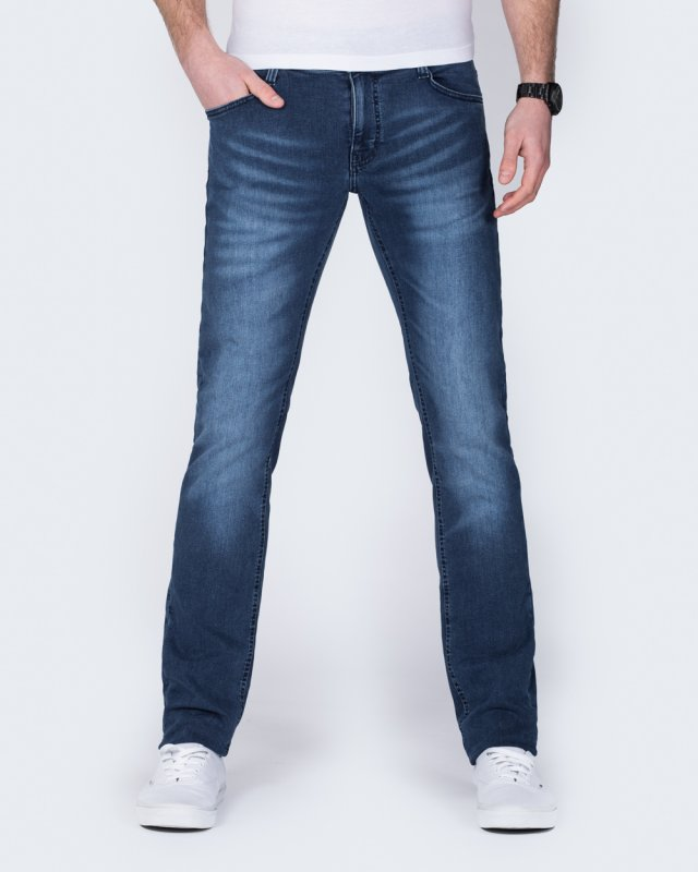 Mustang Oregon Tapered Slim Fit Stretch Jeans (denim mid)