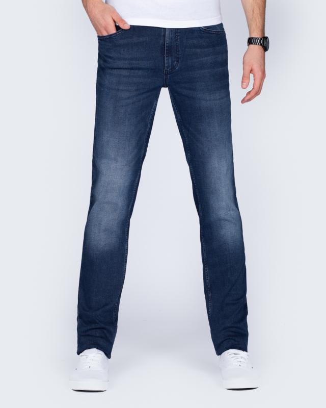 Mustang Tramper Tapered Slim Fit Tall Jeans (dark denim)