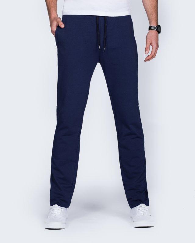 2t Declan Half-Striped Slim Fit Tall Gym Joggers (navy)