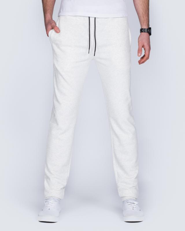 2t Riley Slim Fit Tall Joggers (white marl)