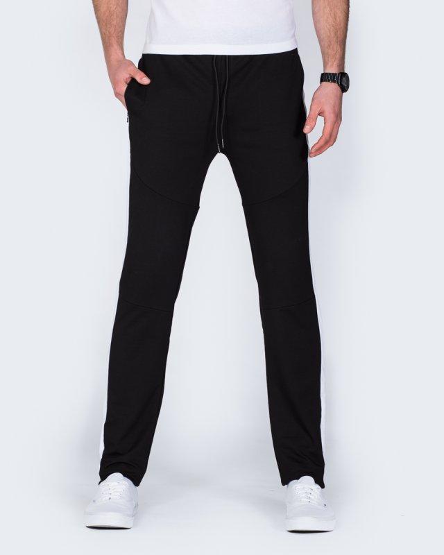 2t Declan Striped Slim Fit Tall Gym Joggers (black)