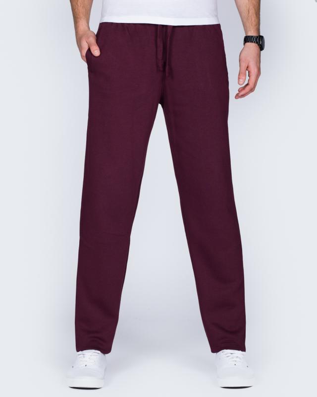 2t Regular Fit Sweat Pants (burgundy)