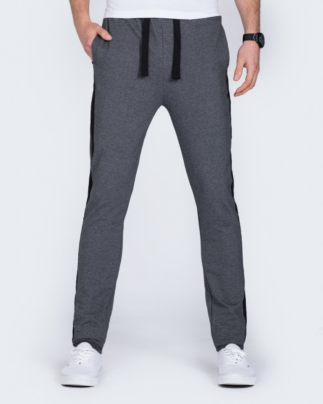 2t Stripe Slim Fit Tall Sweat Pants (charcoal)