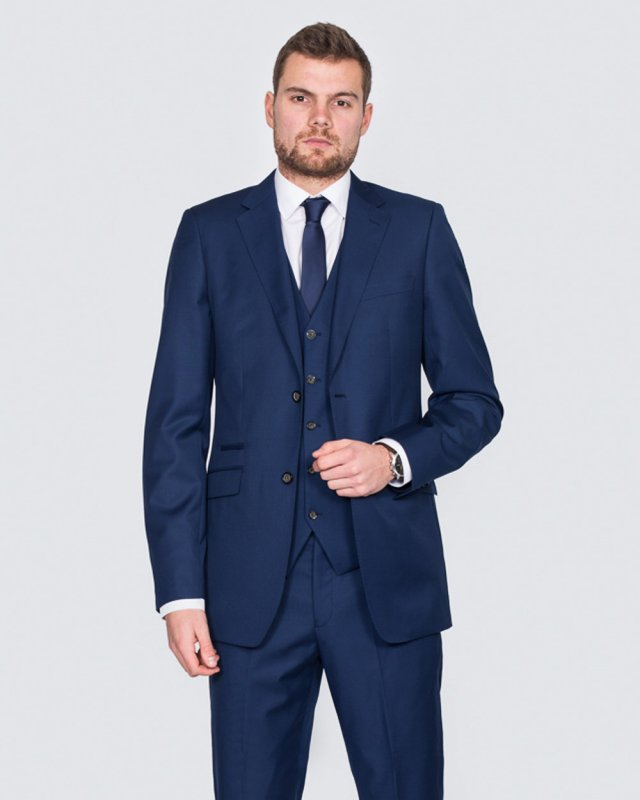 Skopes Slim Fit Wool Tall Suit (royale blue)