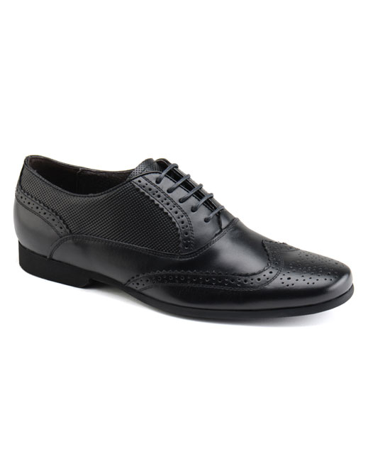 Front Lagoon Leather Brogue (black)