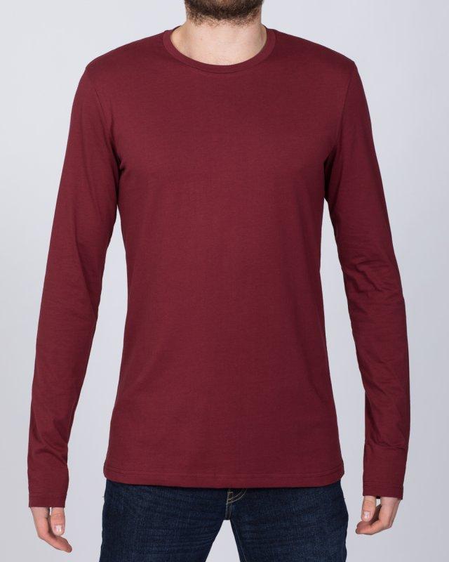 2t Tall Long Sleeve T-Shirt (burgundy)