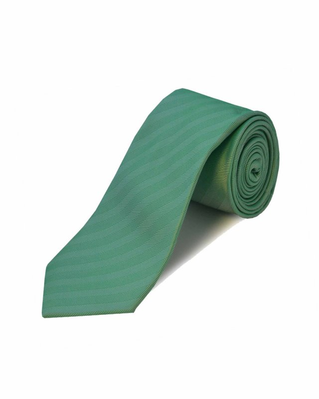 Double Two Extra Long Herringbone Tie (green)