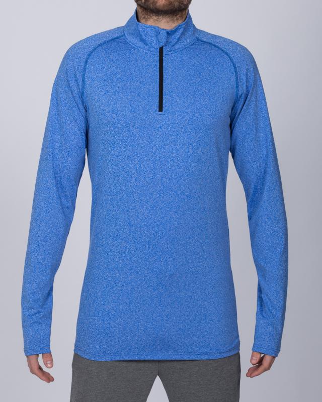 2t Long Sleeve Quarter-Zip Training Top (electric blue)