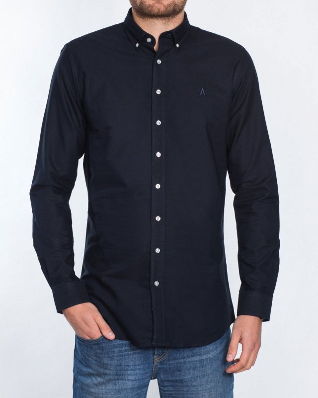 2t Slim Fit Long Sleeve Tall Shirt (plain navy)