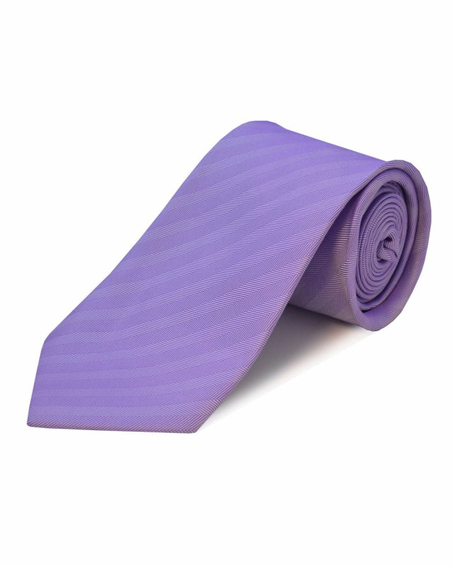 Double Two Extra Long Herringbone Tie (lilac)