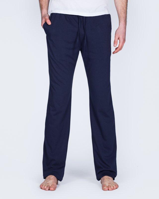 2t Tall Slim Fit Pyjama Bottoms (plain navy)