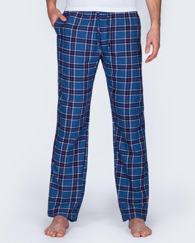 2t Tall Regular Fit Pyjama Bottoms (blue)