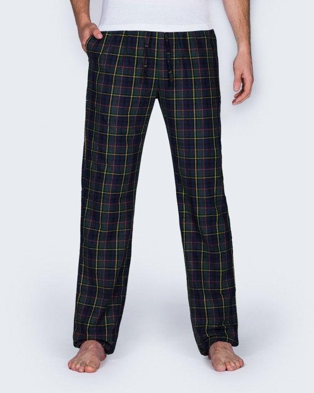 2t Tall Regular Fit Pyjama Bottoms (navy check)
