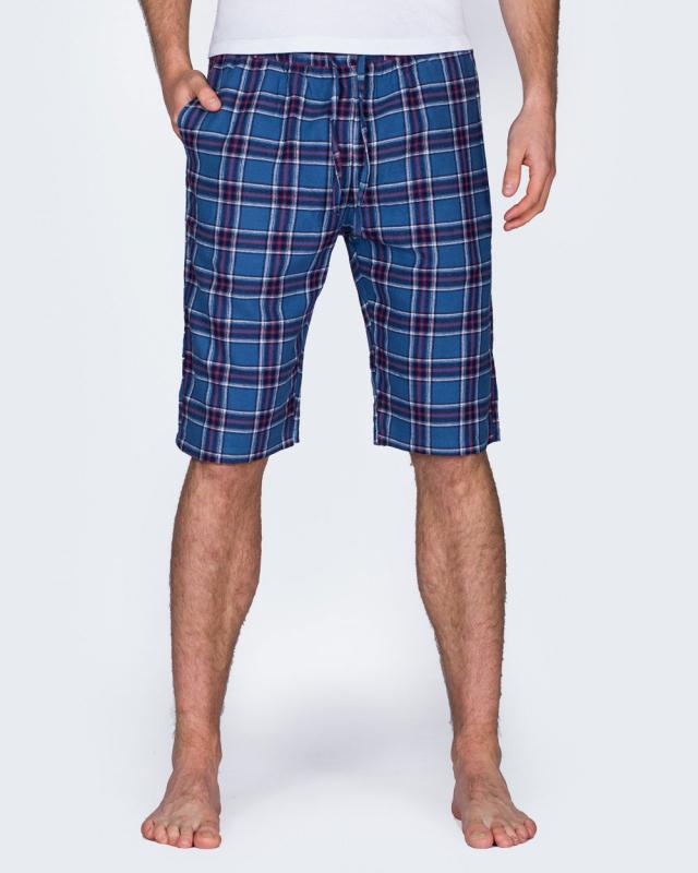 2t Tall Regular Fit Pyjama Shorts (blue)