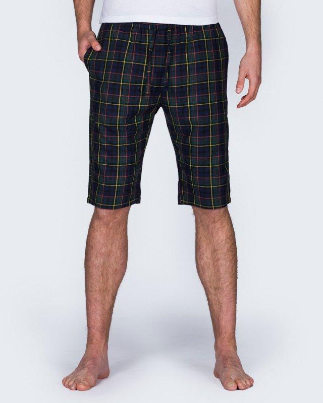 2t Tall Regular Fit Pyjama Shorts (navy check)