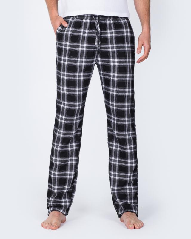 2t Tall Slim Fit Pyjama Bottoms (black/white)