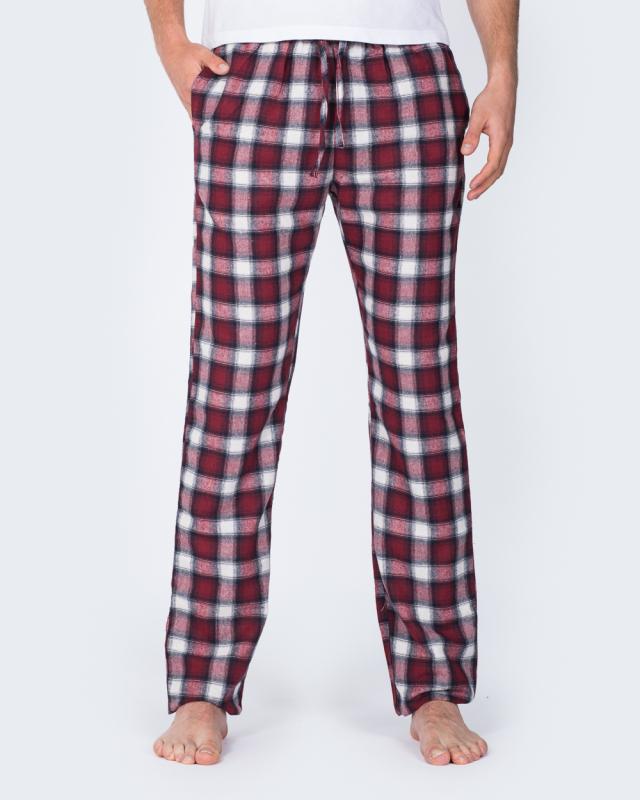 2t Tall Slim Fit Pyjama Bottoms (berry)