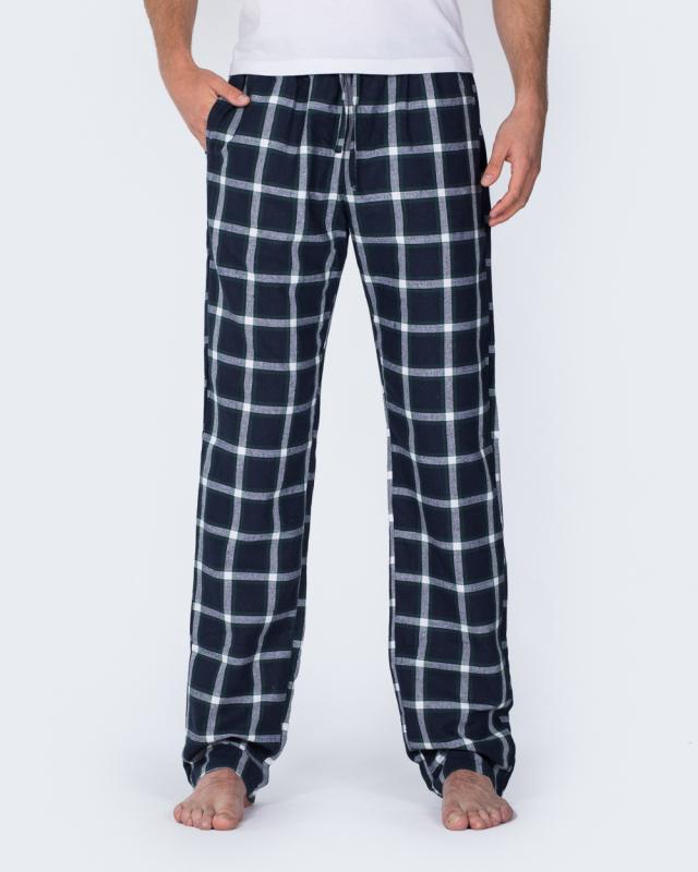 2t Tall Regular Fit Pyjama Bottoms (green/navy)