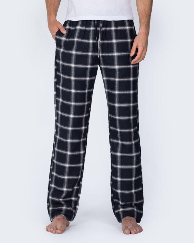 2t Tall Regular Fit Pyjama Bottoms (navy/grey)