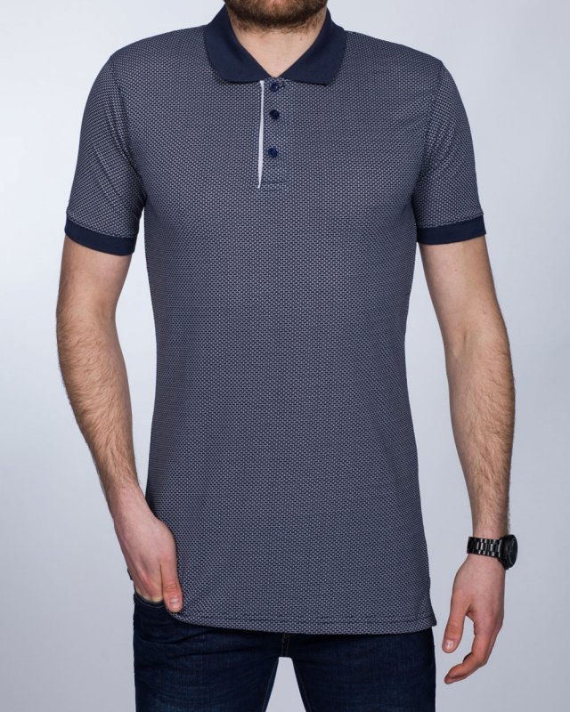 2t Slim Fit Patterned Tall Polo Shirt (insignia blue)