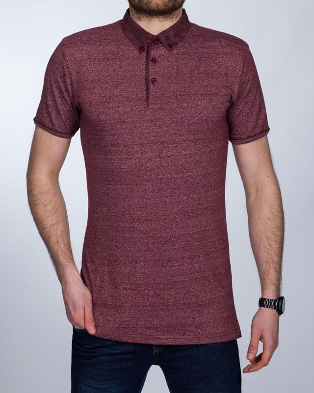 2t Slim Fit Tall Polo Shirt (wine marl)